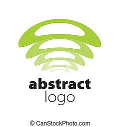 abstrakcyjny, widmo, wektor, listki, logo, łukowaty