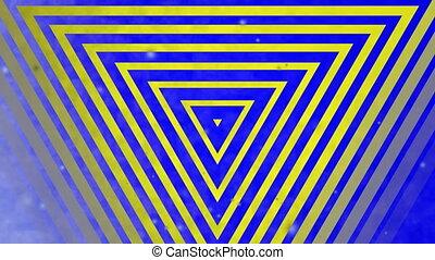 abstrakcyjny, wielobarwny, trójkąt