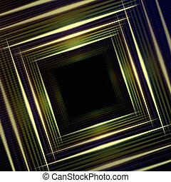 abstrakcyjny, wielobarwny, zielone tło, kwadraty, lustrzany