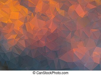 abstrakcyjny, wielobok, tło