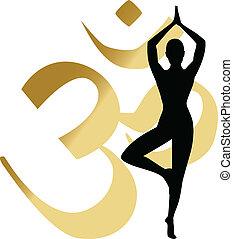 abstrakcyjny, yoga, tło