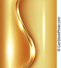 abstrakcyjny, złoty, tło