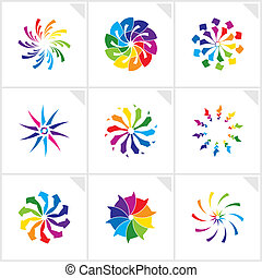 abstrakcyjny zamiar, elements., vector.