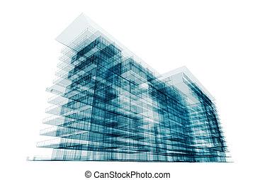 abstrakcyjny, zbudowanie, budowany
