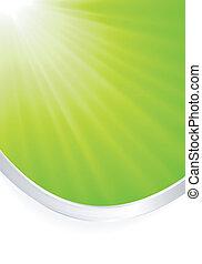 abstrakcyjny, zielone światło, pękać, z, sil