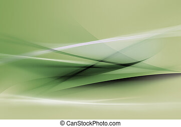 abstrakcyjny, zielone tło, fale
