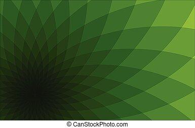 abstrakcyjny, zielone tło, triangle