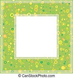 abstrakcyjny, zielony, brzeg
