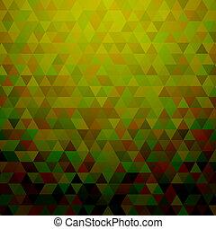 abstrakcyjny, zielony, triangle, tło