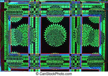 abstrakcyjny, zielony
