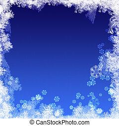 abstrakcyjny, zima, tła, z, mrożony, struktura