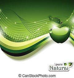 abstrakt, äpple, bakgrund