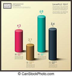 abstrakt, 3, cylinder, infographics