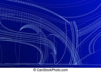 abstrakt, 3d, design