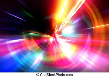 abstrakt, acceleration, hastighet, rörelse, på, natt, väg