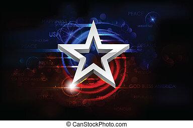 abstrakt, amerikaner flag, baggrund