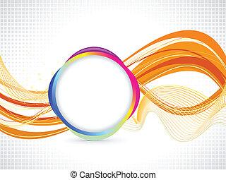 abstrakt, apelsin, baserat, bakgrund