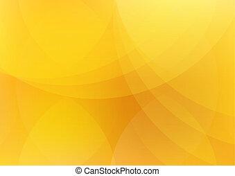 abstrakt, appelsin, og, gul baggrund, tapet