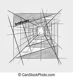 abstrakt, architektur, bild