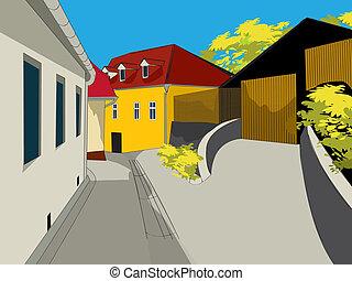 abstrakt, architektur, skizze
