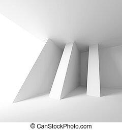 abstrakt, arkitektonisk konstruktion