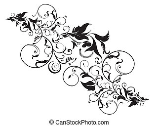 abstrakt, artistisk, blommig