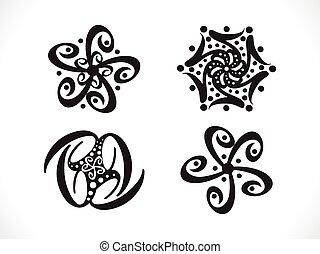 abstrakt, artistisk, blommig, shapes.eps
