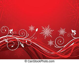 abstrakt, artistisk, jul