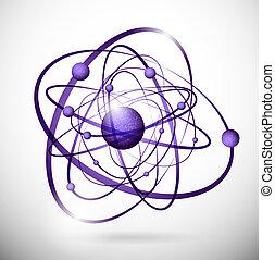 abstrakt, atom