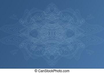 abstrakt, av, blå vinkar