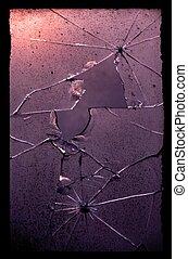 abstrakt, av, knäckt, glas