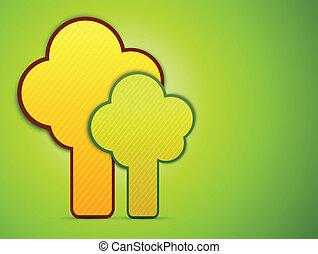 abstrakt, bäume