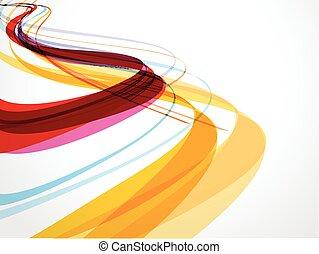 abstrakt, bølge, baggrund, komposition