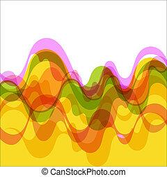 abstrakt, bølgede, baggrund