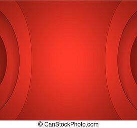 abstrakt, bølgede, korporativ, rød baggrund