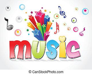 abstrakt, backgroud, musik