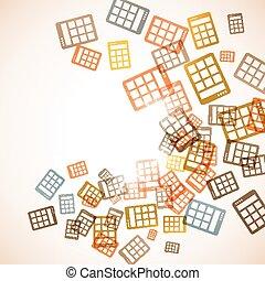 abstrakt, background:, räknemaskin