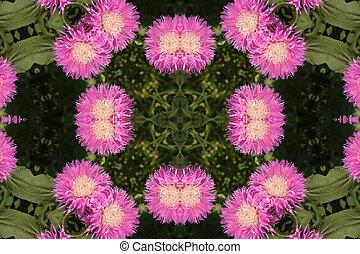 abstrakt, baggrund, hos, blomster