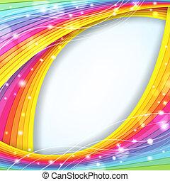 abstrakt, baggrund, hos, regnbue farve, og, gnistre