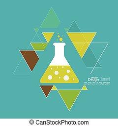 abstrakt, baggrund, hos, triangles.