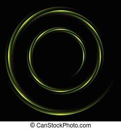 abstrakt, baggrund, swirl, logo, cirkel, skinnende