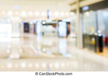 abstrakt, bakgrund, av, köpcenter, ytlig, djup, av, fokus.