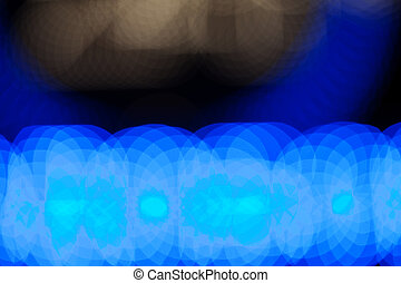 abstrakt, bakgrund, bokeh, blå, vit