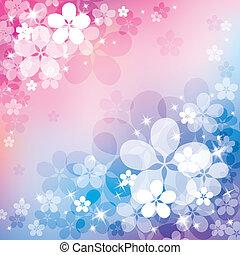 abstrakt, bakgrund, med, blomma