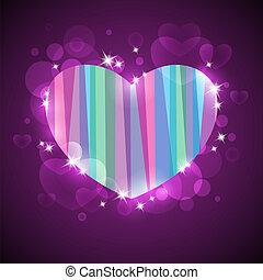 abstrakt, bakgrund, med, hjärta