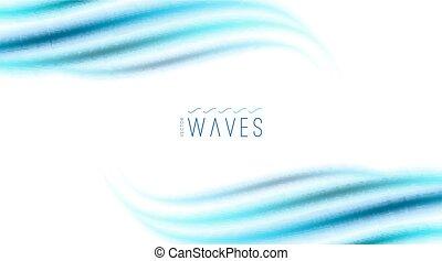 abstrakt, bakgrund, med, vågor