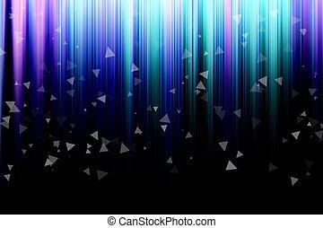 abstrakt, bakgrund, med, vertikal, färgrik, stripes, med, triangl