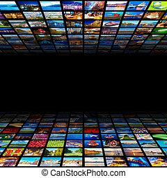abstrakt, bakgrund, multimedia