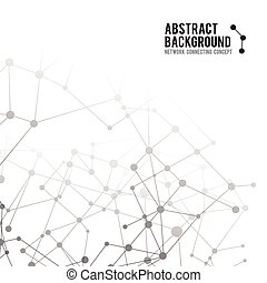 abstrakt, bakgrund, nätverk, koppla samman, begrepp, -,...