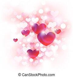 abstrakt, bakgrund, valentinkort